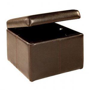 dark brown storage cube