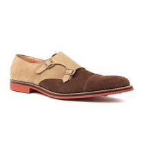 grenson double monk shoes