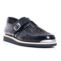 monk raffia front shoes