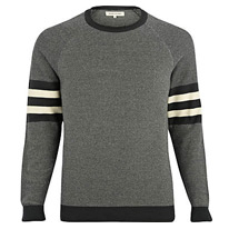 green textured jumpers