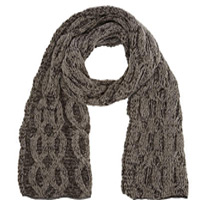 cable knit grey scarf