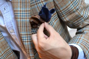 check and pocket square