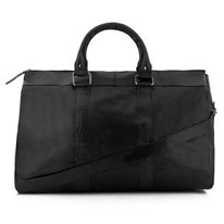 leather weekened holdall
