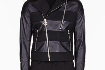 black paneled jacket