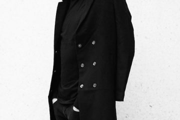 black outerwear