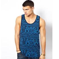 aztec printed vest