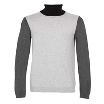 black rollneck jumper