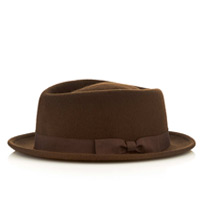 brown pie hat