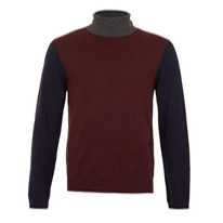 burgundy rollneck jumper