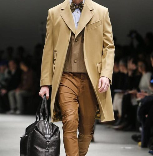 camel toned suiting