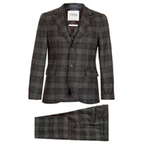 charcoal checked suit