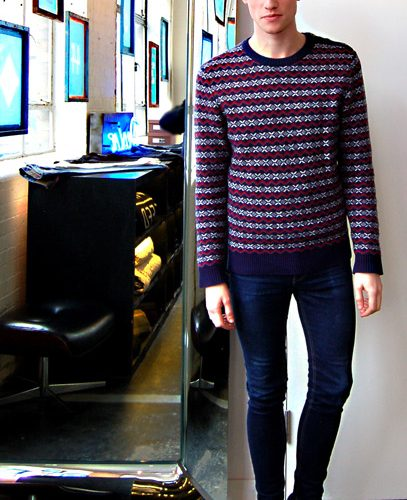 coloured knit