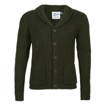 green collar cardigan