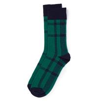 green tartan socks