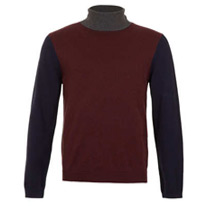 grey rollneck jumper