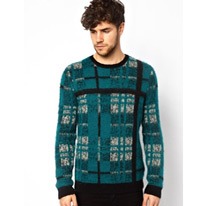 asos check jumper