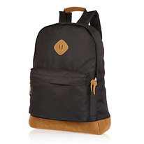 backpack black canvas