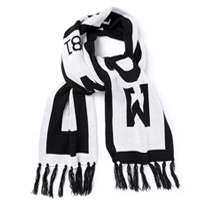black branded scarf