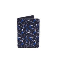 blue geo cardholder