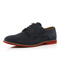 blue semi brogues
