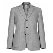 brushed button blazer