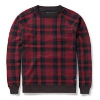 check woven sweatshirt
