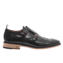 double leather brogues