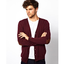 elbow patches cardigan