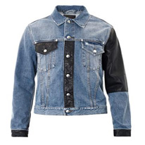 faux denim jacket