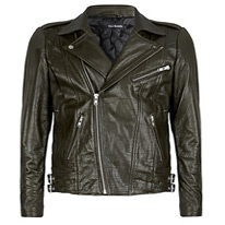 glazed leather jacket