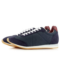 navy retro trainers