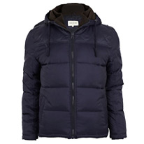 padded navy jacket