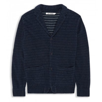 bonded knitted blazer