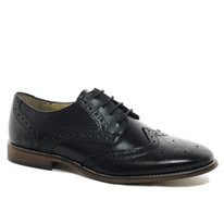brogue leather shoes
