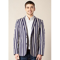 college striped blazer