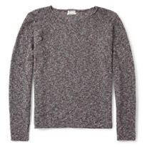 flecked knitted shirt