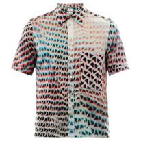 mesh printed shirt