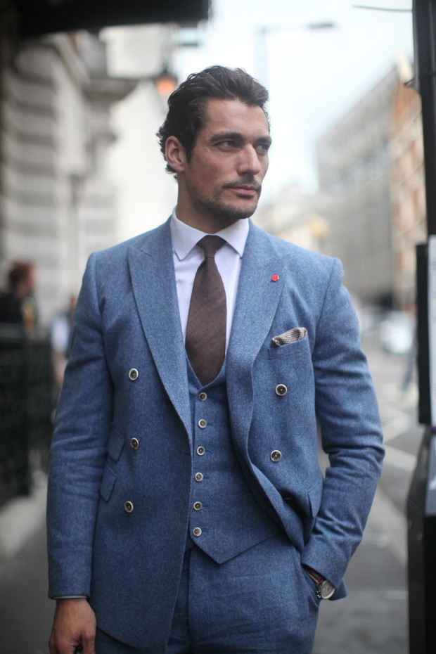 david gandy in tweed