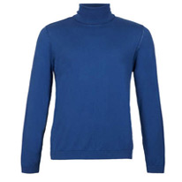 blue rollneck jumper