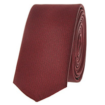 burgundy skinny tie