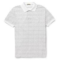 check pique shirt
