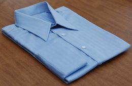 folding a shirt
