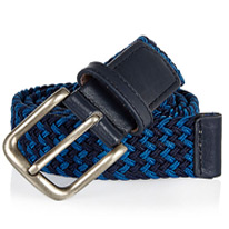 navy webbed belts