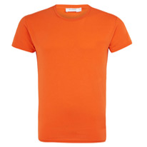 orange cotton tee