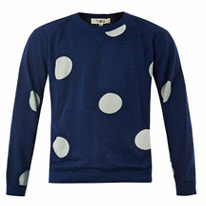 polka printed sweater