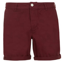 burgundy topman shorts