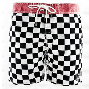 check board shorts