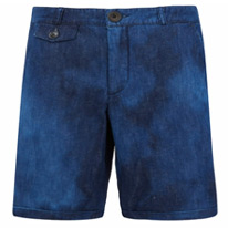blue bleached shorts