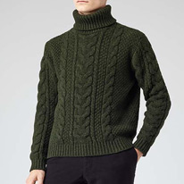 emerald rollneck knit