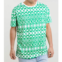green ikat tees